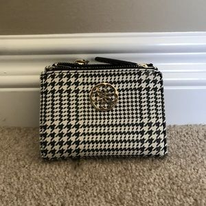 guess houndstooth wallet
